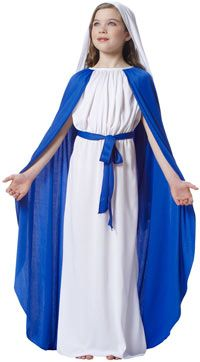 Girls Mary Costume - Christmas Costumes