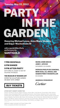 Museum of Modern Art, MoMA | Party in the Garden