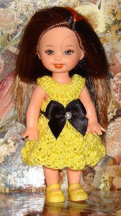 Handmade Crochet Dress For Kelly Barbie number  710