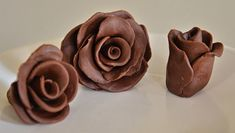Chocolate Clay Roses