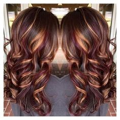 25 Best Hairstyle Ideas For Brown Hair With Highlights ❤ liked on Polyvore featuring beauty products, haircare and hair styling tools