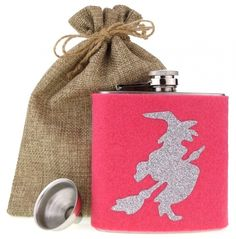 Flachmann Jute, Flask, Funny Presents, Witches, Utah, Burlap