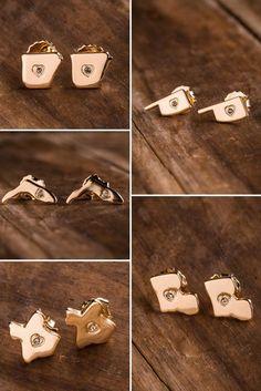 State Stud Earrings