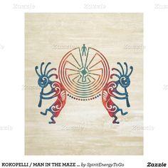 KOKOPELLI / MAN IN THE MAZE your ideas Fleece Blanket