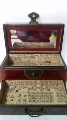 Antique Vintage Asian Style Art Deco Safe with the Abacus and Wood drawer in Antiques, Furniture, Other Antique Furniture | eBay