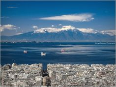 Mount Olympus as seen on a clear day from the upper part of Thessaloniki, Greece Mount Olympus Greece, Pack Up And Go, Crete, Mykonos, Athens, Places To Go, Tourism, Beautiful Places, Around The Worlds