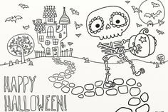 9 fun, free Halloween printable coloring pages for kids. Love this one!