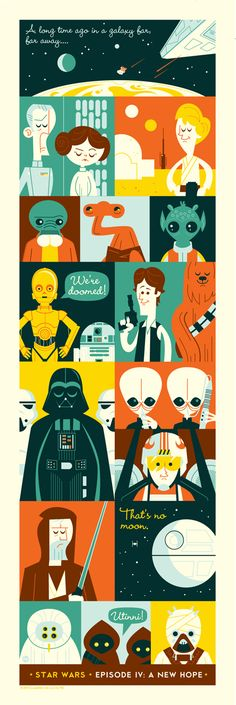 A New Hope, A Star Wars Themed Illustration by Dave Perillo