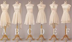 Custom Make Bridesmaid Dress  Short Bridesmaid by DressSister, $89.99