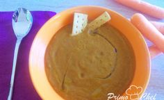 Vellutata di lenticchie con zucca e carote al curry