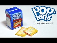 Miniature Pop Tarts inspired Tutorial - Polymer Clay & Paper - YouTube