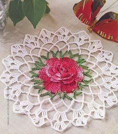 Home Decor Crochet Patterns Part 101 - Beautiful Crochet Patterns and Knitting Patterns Mandala Au Crochet, Crochet Flower Patterns, Crochet Motif, Crochet Designs, Crochet Flowers, Knitting Patterns, Knitting Ideas, Beau Crochet, Crochet Home