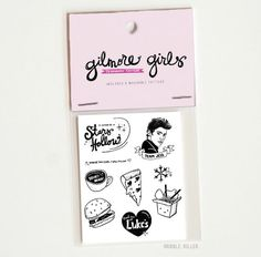 Are you psyched over Netflix bringing back the Gilmore Girls? Rock your fan crush with these super sweet Gilmore Girls removable tattoos! These make great stocking stuffers too! Grab them while you can from Dribble Killer on Etsy! (AFF)