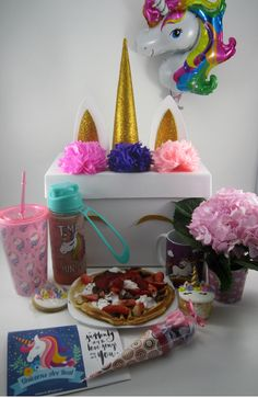 Desayuno Sorpresa y unicornios.. 12th Birthday, Diy Birthday, Birthday Parties, Cute Breakfast Ideas, Surprise Box, Unicorn Party, Girly Things, Girly Stuff, I Party