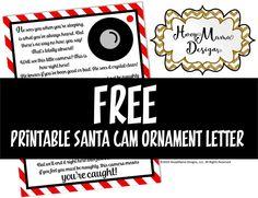 Free Printable Santa Cam Letter - PDF FILE