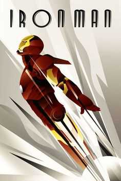 IronMan Art deco Poster by rodolforever on DeviantArt
