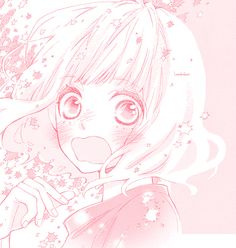 Sh ♥ ujo everywhere ❣ Sad Anime, Kawaii Anime, Manga Anime, Anime Art, Anime Kiss, Cute Manga Girl, Anime Girl Pink, Pink Aesthetic, Aesthetic Anime