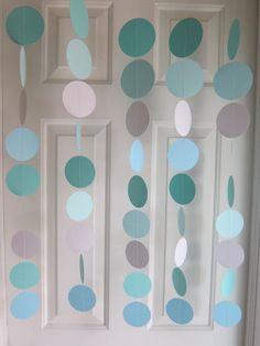 Tiffany Blue, TIffany Blue Wedding, Paper Garland, Tiffany Baby Shower, Tiffany Bridal Shower, Tiffany themed shower, Shower Decorations