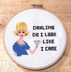 Cross stitch Sassy L