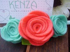 Diademas - Diadema flor ref:024 - hecho a mano por KENZA-COMPLEMENTOS en DaWanda
