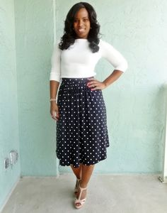 Simple knee length gathered skirt