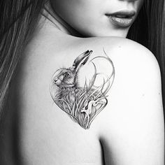 Easter Hare Hare Temporary Tattoo Wild Hare by OctaviaTattoo