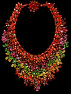 Vintage Miriam Haskell Glass Necklace 1940s/50s.