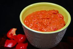 Red Bell Pepper Peanut Chutney GREAT over a fritata!!!