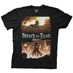 Shop by Anime :: Attack on Titan :: Attack on Titan - Eren & Colossal Titan T-Shirt - AnimUK - UK retailer of anime merchandise