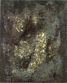 Vasco Bendini Immagine (Tracce), 1957 Olio e tecnica mista su tela, 90 X 110 cm Gallerie d'Italia - Piazza Scala, Milano.