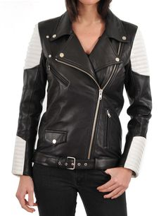 HOT Women's Genuine Lambskin Real Leather Motorcycle Slim fit Biker Jacket WN08 #WesternOutfit #Motorcycle #EveryDay