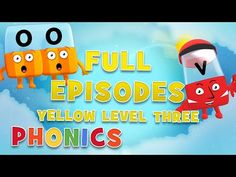 Alphablocks - YELLOW LEVEL 3 | Full Episodes | #LearningFromHome - YouTube Phonics Sounds, Level 3, Full Episodes, Learn To Read, Homeschool, Lettering, Learning, Yellow, Youtube