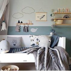 How gorgeous is this little boy's room by ? You… - Schönsten Deko-Ideen Cool Kids Rooms, Boys Bedroom Decor, Bedroom Ideas, Ocean Bedroom Kids, Nursery Ideas, Kids Room Design, Baby Boy Rooms, Girl Rooms, Room Interior