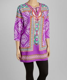 Look what I found on #zulily! Purple Busy Shift Tunic - Plus by Highness NYC #zulilyfinds