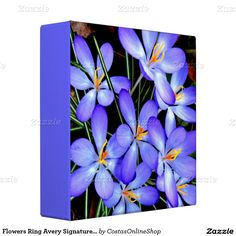 """For your Home Business ,Flowers Ring Avery Signature 1"""" Binder"""