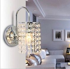 Crystal wall sconce on Pinterest Wall Sconces, Crystals and Light Design