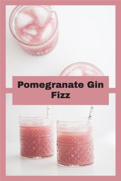 Refreshing vegan Pomegranate Gin Fizz made with fresh Pomegranate Seeds. It's the perfect summer drink! You can easily make a non-alcoholic, kid-friendly version.
