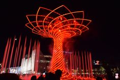 The Tree of Life. The colours of Expo Milan 2015 #raiexpo #expo2015 #worldsfair #milan #italy #treeoflife #alberodellavita #colours #life #red