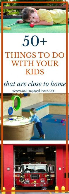 Check out this post for over 50 ideas of things you can do with your kids this Spring or Summer. If you're planning a staycation or just need an idea for the weekend, this list can inspire fun and memorable things you can do as a family! Summer Activities For Kids, Summer Kids, Family Activities, Crafts For Kids, Spring Summer, Kids And Parenting, Parenting Hacks, Christian Parenting, Infant Activities