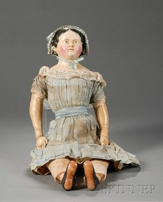 Large Papier-mache Child Doll   Sale Number 2482, Lot Number 607   Skinner Auctioneers