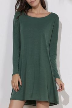 GET $50 NOW | Join RoseGal: Get YOUR $50 NOW!http://www.rosegal.com/long-sleeve-dresses/simple-round-collar-long-sleeve-309140.html?seid=5944238rg309140