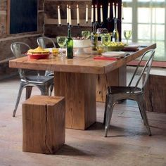 This Dining Table Is In Storage At The Please Call For An Ointment To View Dream Rustic Farm Plank Wood Chunky