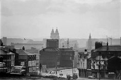 Looking towards city centre from Brunswick road  1977 | Liverpool