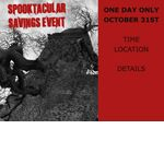 Spooktacular Savings Event