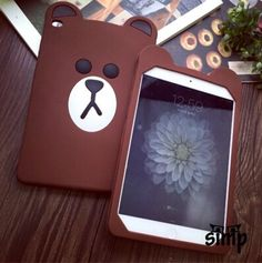 73 best cute ipad mini cases images in 2019 ipad mini cases, cuteprotect your cell phone with this stylish silicone skin case cartoon soft rubber silicone brown bear case cover fashion tablets cases for ipad mini 4 3