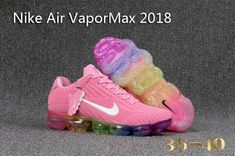 Pink running shoes - Nike Air Vapor Max 2018 KPU Pink White MultiColor Thirty years of technological innovation culminates on the crowning achievement of Air Max Day 2017 the Nike Air VaporMax Plyknit Kpu From Shoesextr Cute Sneakers, Cute Shoes, Air Max Sneakers, Me Too Shoes, Shoes Sneakers, Shoes Men, Leather Sneakers, Nike Air Max 2017, Nike Air Vapormax