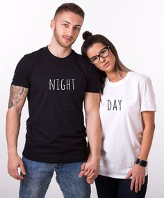 Day Night Shirts, Matching Couples Shirts, Unisex. Be the perfect couple with these matching couples shirts! Get yours now!