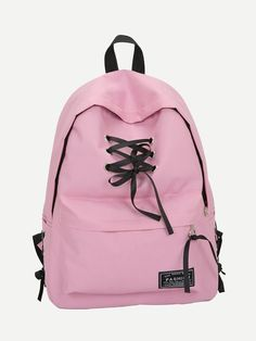 Shop Lace Up Pocket Front Backpack online. SHEIN offers Lace Up Pocket Front Backpack & more to fit your fashionable needs. Hiking Backpack, Travel Backpack, Backpack Bags, Ladies Backpack, Canvas Backpack, Leather Backpack, Funny Dad Hats, School Fashion, Up Styles