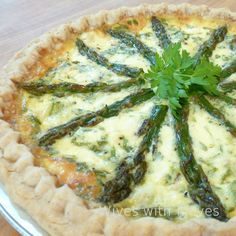 Asparagus Ham and Goat Cheese Quiche | Wives with Knives