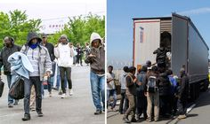 UK SUPERMARKETS could soon run short of essential goods because asylum seekers trying to force their way onto lorries at Calais have brought Britain's food supply chain to the brink of collapse.